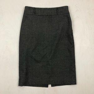Anne Klein Gray Pencil Skirt w/ Slit